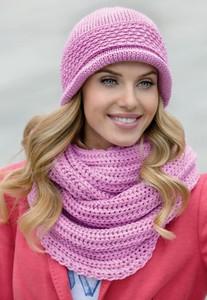 Różowy szalik Kamea