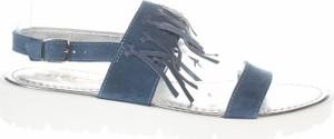 Niebieskie sandały Replay z płaską podeszwą