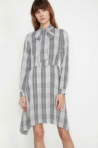 Sukienka Koton koszulowa z długim rękawem w stylu casual