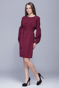 Fioletowa sukienka Harmony z okrągłym dekoltem