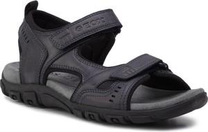 Buty letnie męskie Geox w stylu casual ze skóry ekologicznej