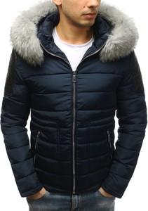 Granatowa kurtka Dstreet ze skóry ekologicznej w stylu casual