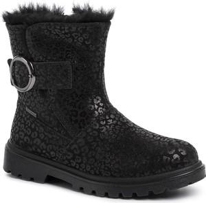 Czarne buty dziecięce zimowe Superfit z goretexu