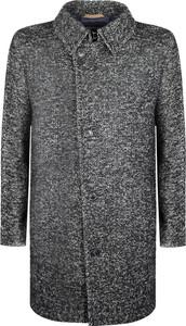Płaszcz męski ubierzsie.com w stylu casual z dzianiny