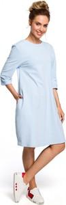 Sukienka Made Of Emotion z długim rękawem w stylu casual z okrągłym dekoltem