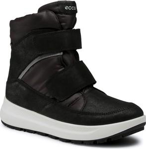 Czarne buty dziecięce zimowe Ecco z goretexu