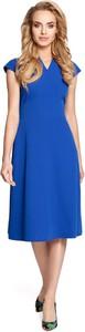 Sukienka MOE z dekoltem w kształcie litery v z krótkim rękawem midi