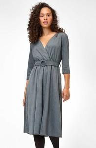 Sukienka ORSAY z długim rękawem z zamszu