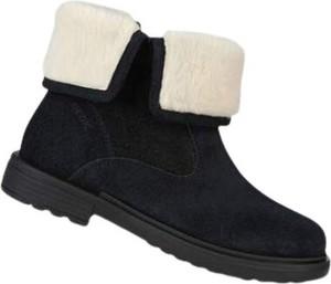 Czarne buty dziecięce zimowe Geox