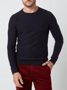 Sweter Tom Tailor w stylu casual z bawełny z okrągłym dekoltem
