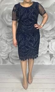 Sukienka Dorota z okrągłym dekoltem