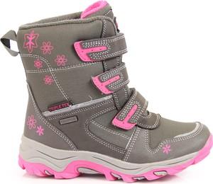 Buty dziecięce zimowe American Club na rzepy dla dziewczynek