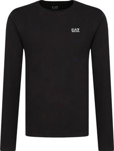 Czarna koszulka z długim rękawem Emporio Armani