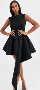 Czarna sukienka Asos asymetryczna mini bez rękawów