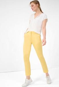 Żółte spodnie ORSAY z tkaniny