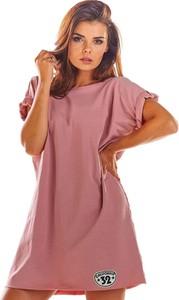 Sukienka Infinite You z okrągłym dekoltem mini w stylu casual