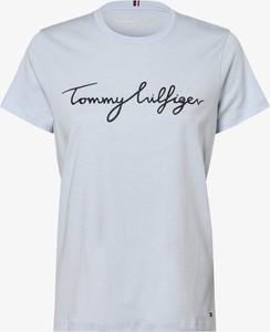 T-shirt Tommy Hilfiger z okrągłym dekoltem z krótkim rękawem