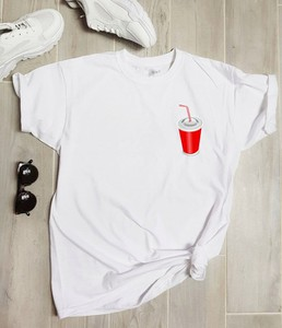 Bluzka Time For Fashion z okrągłym dekoltem w stylu casual z bawełny