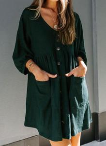 Sukienka Sandbella z długim rękawem mini w stylu boho