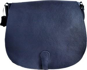 Niebieska torebka TrendyTorebki w stylu casual matowa ze skóry
