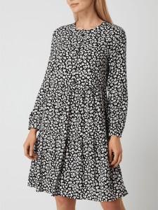 Czarna sukienka Montego z okrągłym dekoltem mini