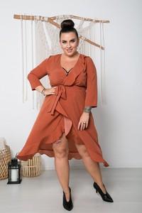 Sukienka Polski midi z długim rękawem w stylu casual