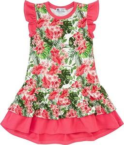 Sukienka dziewczęca Tuszyte z bawełny w kwiatki
