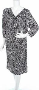 Czarna sukienka Khoko z długim rękawem midi