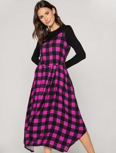 Sukienka Rabarbar w stylu casual z długim rękawem asymetryczna