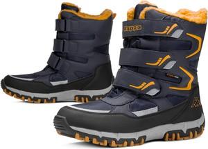 Niebieskie buty zimowe Kappa na rzepy