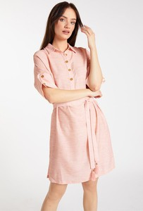 Różowa sukienka Monnari z krótkim rękawem mini