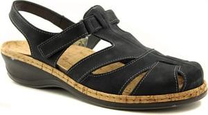 Czarne sandały Comfortabel w stylu casual