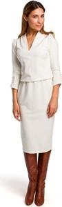 Sukienka Merg z długim rękawem z dekoltem w kształcie litery v