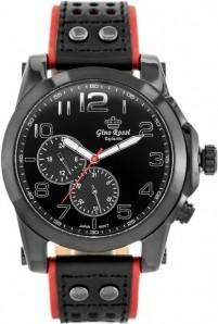 ZEGAREK MĘSKI GINO ROSSI - E11642A - EXCLUSIVE Czarny | Czerwony