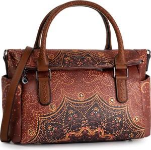 Brązowa torebka Desigual średnia do ręki