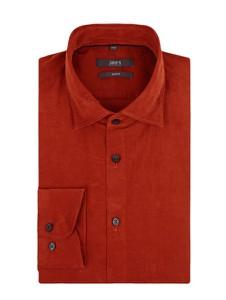 Czerwona koszula Jake*s z bawełny z długim rękawem z klasycznym kołnierzykiem