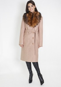 Różowy płaszcz Marcelini z wełny