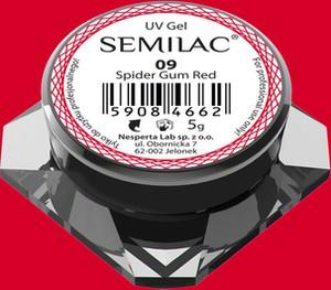09 Semilac Spider Gum Red