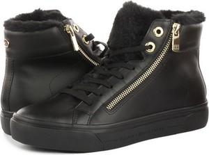 Czarne buty sportowe Tommy Hilfiger sznurowane