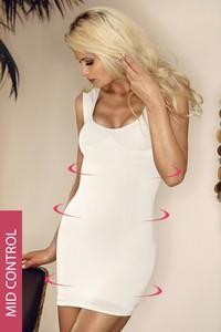 Hanna Style Mid-Wyszczplająca sukienka-szerokie ramiączka-6 720-MicroClima biały
