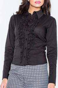 Granatowa koszula Figl z bawełny