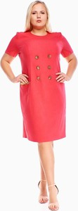 Czerwona sukienka Fokus dla puszystych