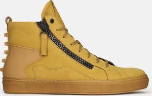 Kazar Żółte sneakersy męskie