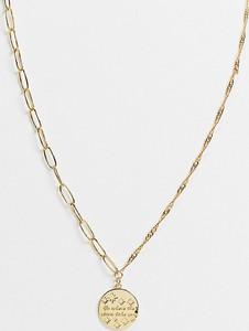 Reclaimed Vintage Inspired – Pozłacany naszyjnik w kolorze złotym z wisiorkiem z motywem księżyca i gwiazd