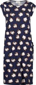 Granatowa sukienka Cartoon w stylu casual mini