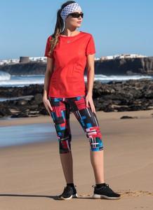 Czerwony t-shirt Nessi Sportswear z krótkim rękawem