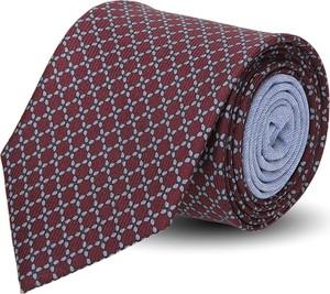 Granatowy krawat recman w abstrakcyjne wzory