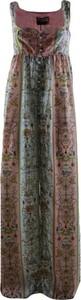 Sukienka Versace Jeans maxi z dekoltem w kształcie litery v