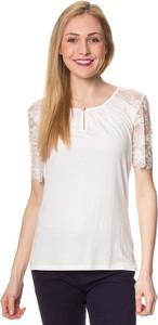 T-shirt ASSUILI z okrągłym dekoltem z krótkim rękawem z jedwabiu