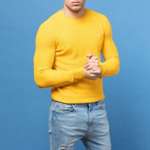 Żółty sweter Guess z bawełny
